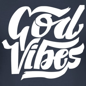 GOD VIBES - Slim Fit T-skjorte for menn