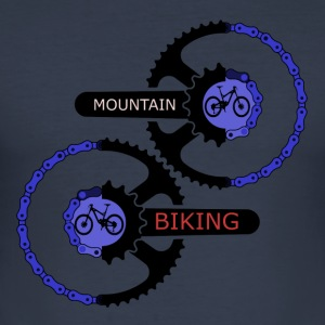 mountainbiking gear - MTB LOVE - Herre Slim Fit T-Shirt