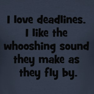 deadlines - slim fit T-shirt