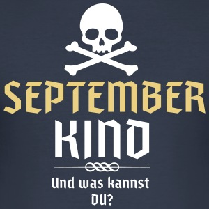 Geburtstagsshirt Septemberkind - Männer Slim Fit T-Shirt