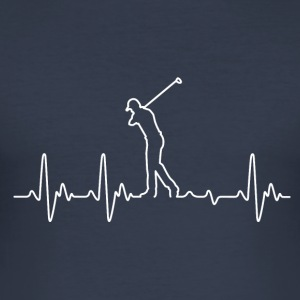 Heartbeat Golf - Herre Slim Fit T-Shirt