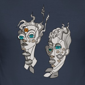 CubistTwins - Slim Fit T-shirt herr