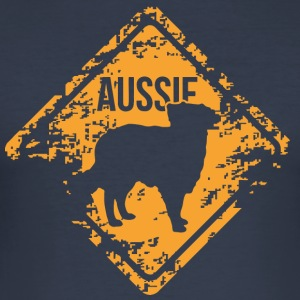 Aussie - Australian Shepherd - Men's Slim Fit T-Shirt