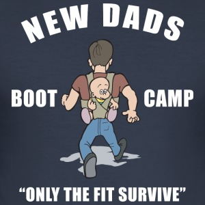 Nieuwe Papa Boot Camp Only The Fit Survive - slim fit T-shirt