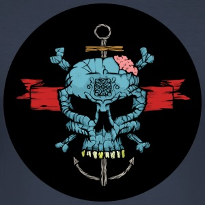 Blue Skull - Slim Fit T-shirt herr