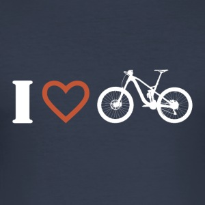 I love mountain biking 1 - Men's Slim Fit T-Shirt
