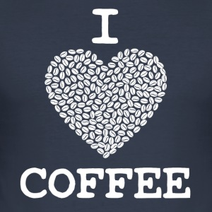 Coffee Mug I LOVE COFFEE - Men's Slim Fit T-Shirt