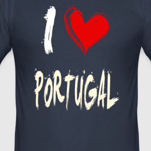 I love portugal - Men's Slim Fit T-Shirt