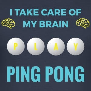 PING PONG - MY BRAIN - Männer Slim Fit T-Shirt