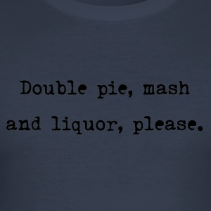 Pie n Mash - Männer Slim Fit T-Shirt