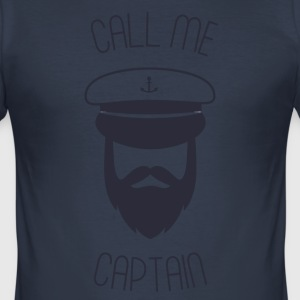 Call me captain - Men's Slim Fit T-Shirt