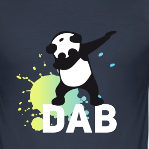 dab splatter panda dabbing touchdown fun cool danc - Men's Slim Fit T-Shirt