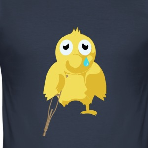 poorly chicken - Men's Slim Fit T-Shirt