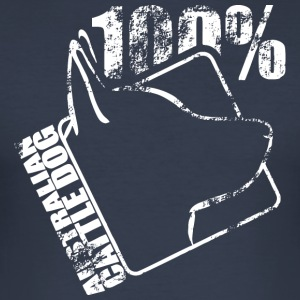 AUSTRALIAN CATTLE DOG 100 - Men's Slim Fit T-Shirt
