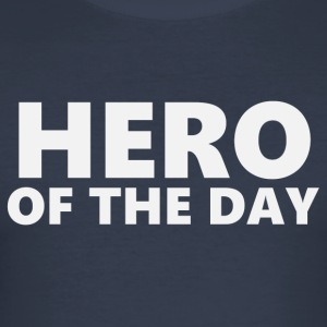 Hero of the day 1 (2202) - Men's Slim Fit T-Shirt