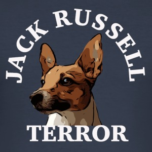 Jack Russell terror4 white - Men's Slim Fit T-Shirt