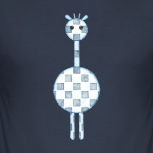 GIRAFFE BLUE - Men's Slim Fit T-Shirt