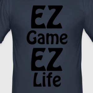 ez ez life game - Men's Slim Fit T-Shirt