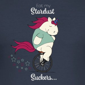 Faules Pummelhorn | Eat my stardust, suckers - Männer Slim Fit T-Shirt