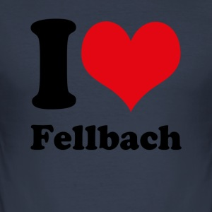 I love Fellbach - Men's Slim Fit T-Shirt