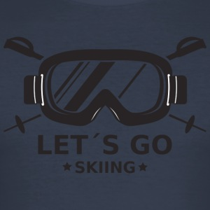 ski - Slim Fit T-skjorte for menn
