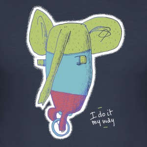 unicycle elephant 'I do it my way' - slim fit T-shirt