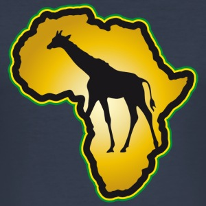 Giraff Afrika Safari Kenya Serengeti Roots Reggae - Slim Fit T-shirt herr