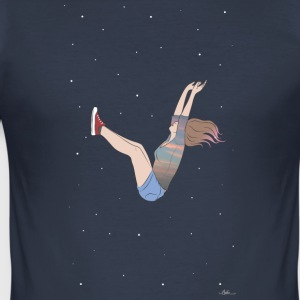 girl falling - Men's Slim Fit T-Shirt