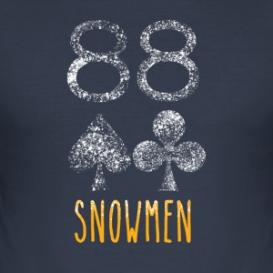Poker Snowmen - Slim Fit T-shirt herr