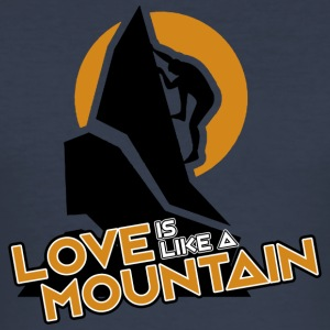 LOVE IS LIKE A MOUNTAIN - Men's Slim Fit T-Shirt