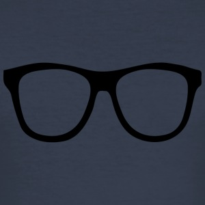 Rimmed Glasses for Nerds Geeks & computer science students - Men's Slim Fit T-Shirt