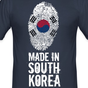 Made In South Korea / Südkorea / 대한민국, 大韓民國 - Männer Slim Fit T-Shirt