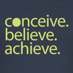 conceive.believe.achieve. - Slim Fit T-shirt herr