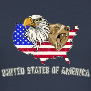 USA Adler eagle grizzlybjörn America America - Slim Fit T-shirt herr