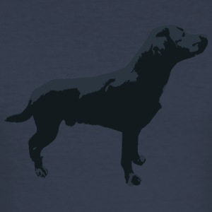 Labrador stående - Slim Fit T-skjorte for menn