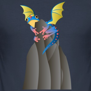 dragon Frog - Slim Fit T-shirt herr