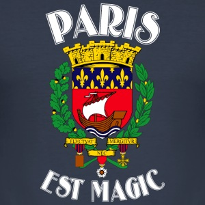 Paris Is Magic Blue - Männer Slim Fit T-Shirt