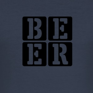 Bier - Beer - Männer Slim Fit T-Shirt