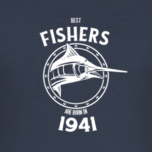 Present for fiskere født i 1941 - Herre Slim Fit T-Shirt
