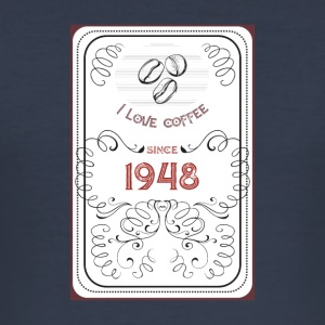 Gåvaidé Coffee - 1948 - Slim Fit T-shirt herr