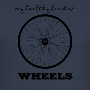 Bike: Min sunne barn av Wheels. - Slim Fit T-skjorte for menn