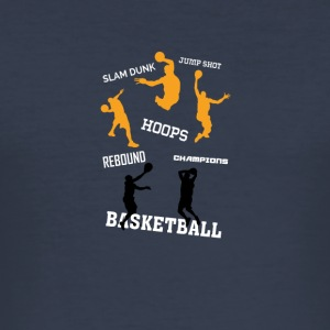 basketbal - slim fit T-shirt