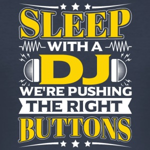 SLEEP WITH A DJ - PUSHING THE RIGHT BUTTONS - Men's Slim Fit T-Shirt