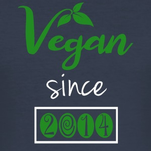Vegan siden 2014 - Slim Fit T-skjorte for menn