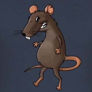 Fiese råtta rodent ohyra rodent mus - Slim Fit T-shirt herr