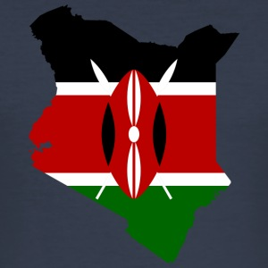 kenya samling - Slim Fit T-skjorte for menn