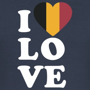 I love Belgium - Men's Slim Fit T-Shirt