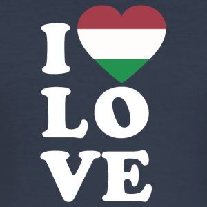I love Hungary - Men's Slim Fit T-Shirt