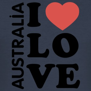 I love Australia - Männer Slim Fit T-Shirt