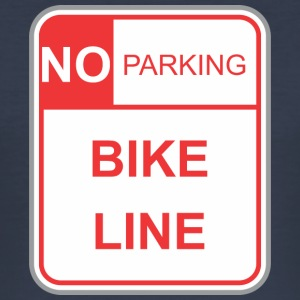 Road sign no parking bike line - Men's Slim Fit T-Shirt